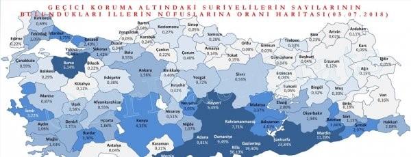 Hangi ilimizde ne kadar Suriyeli göçmen yaşıyor?